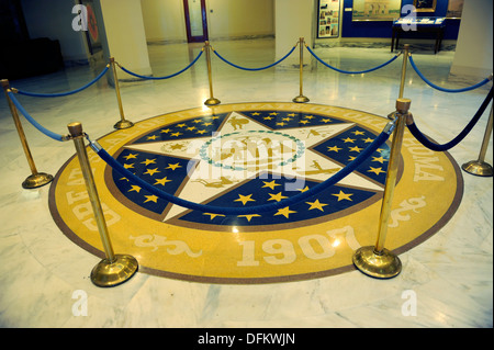 Oklahoma City Capitol Building with Great Seal of the State - Stock Photo