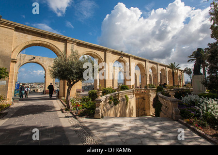 Europe, Malta, La Valletta, Upper Barrakka garden. - Stock Photo