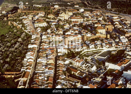 Silves fortified village. Algarve district. Portugal - Stock Photo
