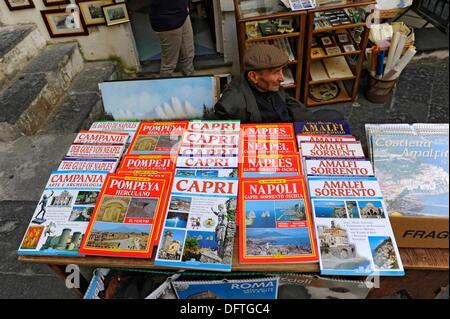 Books Amalfi Italy Mediterranean Sea Coast Cruise Europe - Stock Photo