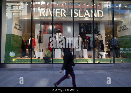 Oxford Street London River Island store - Stock Photo