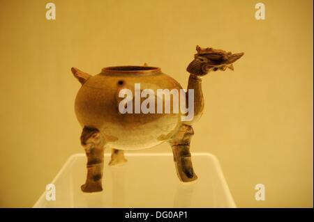 Ewer with dragon head.  This was taken inside Hunan Provincial Museum. - Stock Photo