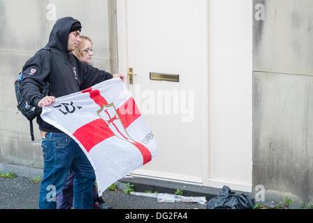 English Defence League Rally Bradford 2013 - Stock Photo
