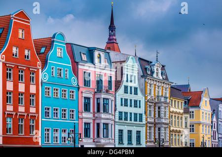Historic Buildings in Rostock, Germany. - Stock Photo