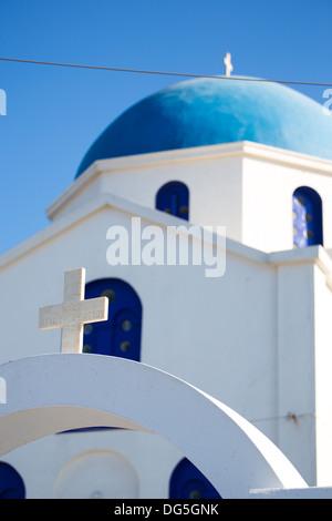 Agios Ioanis Prodromos Church, Ano Mera, Pano Meria Village, Folegandros, Cyclades Islands. - Stock Photo