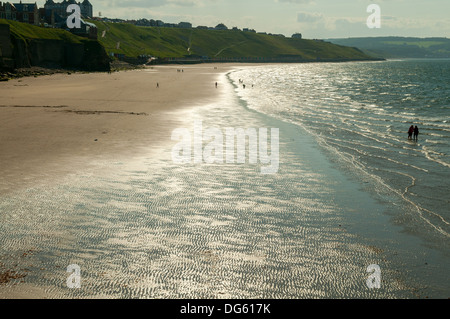 Beach at Whitby, North Yorkshire, England - Stock Photo