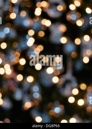 Christmas tree light decorations - Stock Photo
