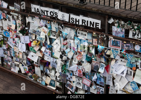 Shrine to Ianto Jones fictional character in the BBC television series Torchwood - Stock Photo