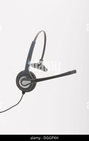 Office Callcentre Headset Callcenter - Stock Photo