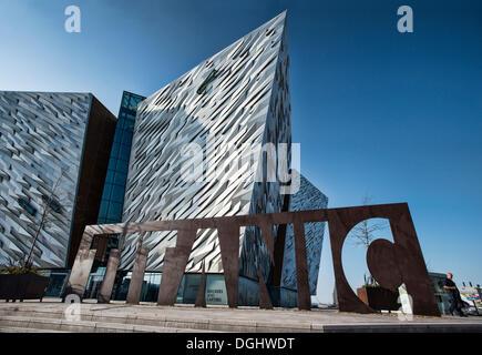 Titanic Museum, Belfast, Northern Ireland, United Kingdom, Europe, PublicGround - Stock Photo