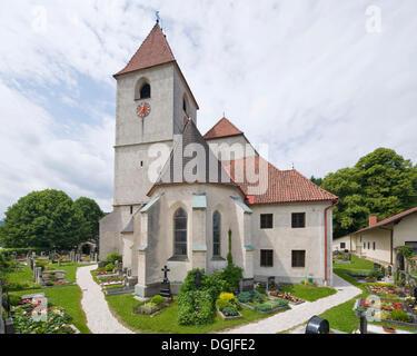 Church of St. John the Baptist, Unteraspang, Bucklige Welt, Lower Austria, Austria, Europe - Stock Photo