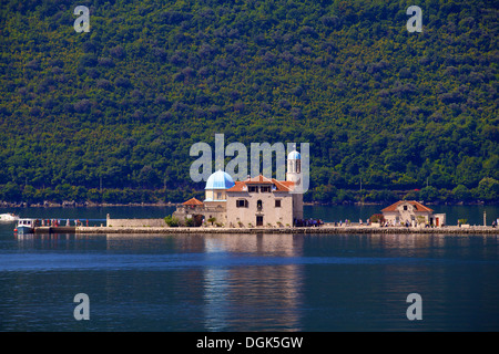 Our Lady of the Rocks Island, Kotor Bay, Montenegro - Stock Photo