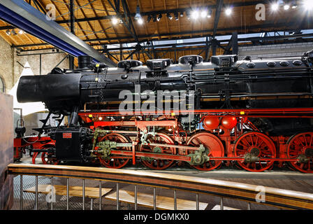 Steam locomotive of the 50 line, built in 1941 by Krupp, disused Altenberg zinc factory, LVR Industriemuseum industrial - Stock Photo