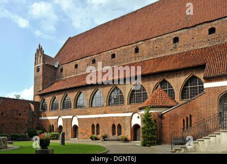 Courtyard of the Bishop's Castle, Allenstein, Olsztyn, Mazury, Poland, Europe - Stock Photo