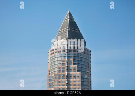 Top of the Messeturm building, Frankfurt, Hesse - Stock Photo