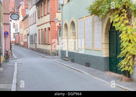Alley in the old town of Heidelberg, Baden-Wuerttemberg - Stock Photo