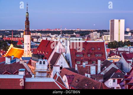 Skyline of Tallinn, Estonia at the old city. - Stock Photo