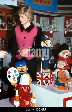 HRH Princess Diana visits the Henry Street Center, New York City, United States of America January 1989 - Stock Photo