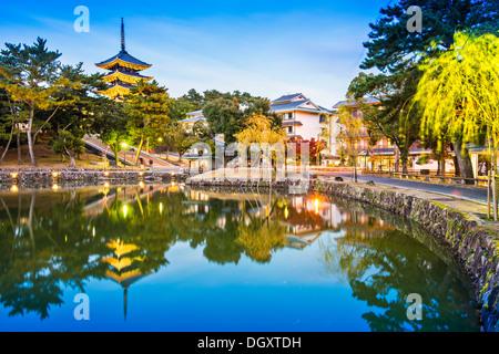 Nara, Japan at Sarusawa Pond. - Stock Photo
