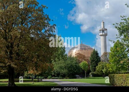 London Central Mosque or Regent's Park Mosque, Regent's Park, London, England, United Kingdom, Europe - Stock Photo