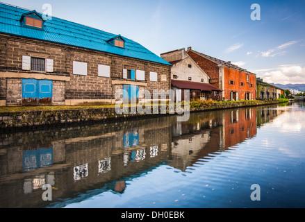 Canals of Otaru, Japan. - Stock Photo