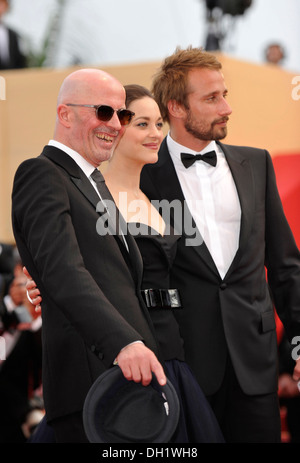 Cannes International Film Festival 2012: Jacques Audiard andcast of his film attendingscreening of 'Rust and Bone' - Stock Photo