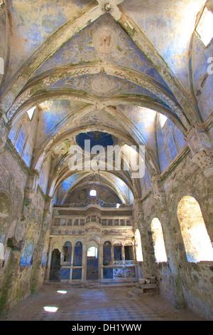 Greek Orthodox Church in Ghost Town of Kayakoy, Turkey, Asia. - Stock Photo