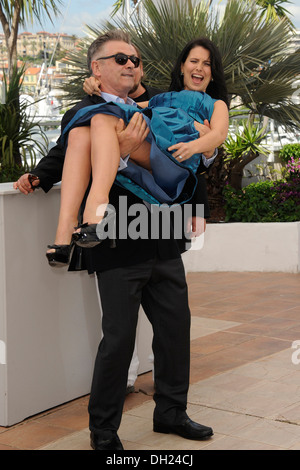 66th edition of the Cannes Film Festival: Alec Baldwin and his wife Hilaria Thomas on 2013/05/21 - Stock Photo