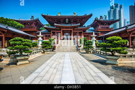 Chi Lin Buddhist Nunnery in Hong Kong, China. - Stock Photo
