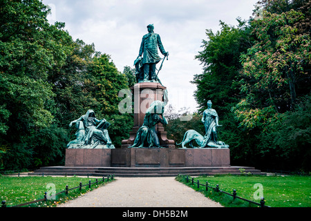 Bismarck monument in Berlin-Tiergarten, Berlin - Stock Photo