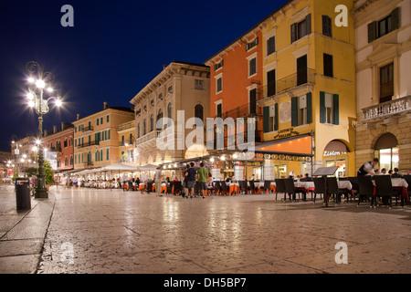 Piazza Brà in Verona - Stock Photo