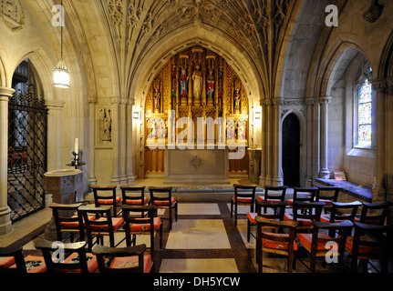 Children's Chapel, Washington National Cathedral or Cathedral Church of Saint Peter and Saint Paul in the diocese - Stock Photo