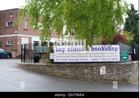 Hay Cinema Bookshop Hay On Wye UK - Stock Photo