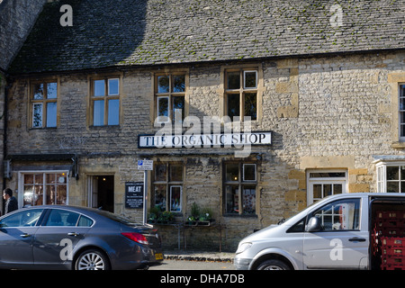 The Organic Shop in the Cotswold town of Stow-on-the-Wold - Stock Photo