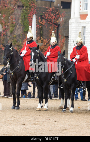 Household Calvary at Horse guards Parade London England - Stock Photo