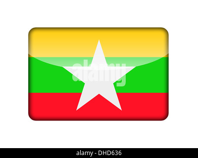 The Myanmar flag - Stock Photo