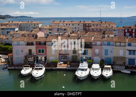 Port Grimaud, Var, Provence-Alpes-Cote d'Azur, Provence, France, Mediterranean, Europe - Stock Photo