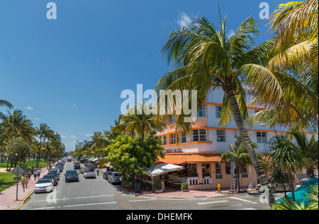 Ocean Drive, Miami Beach, Florida, United States of America, North America - Stock Photo