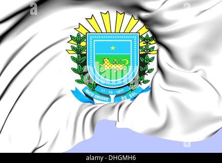 Mato Grosso do Sul Coat of Arms, Brazil. Close Up. - Stock Photo