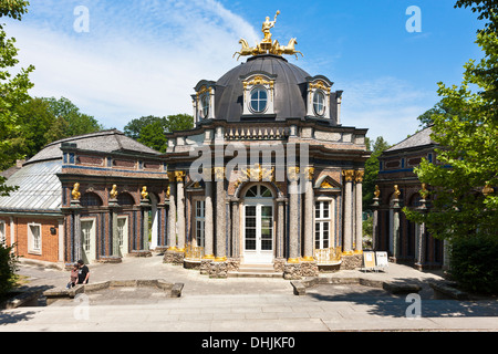 Germany, Bavaria, Franconia, Bayreuth, Hermitage, New Castle and orangery - Stock Photo