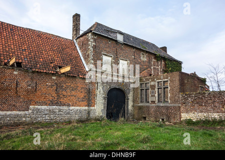 Hougoumont, farmhouse where British forces faced Napoleon's Army at Battle of Waterloo, June 18, 1815, Braine-l'Alleud, - Stock Photo