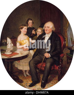Great-Grand-Father's Tale of the Revolution—A Portrait of Reverend Zachariah Greene - by William Sidney Mount, 1852 - Stock Photo
