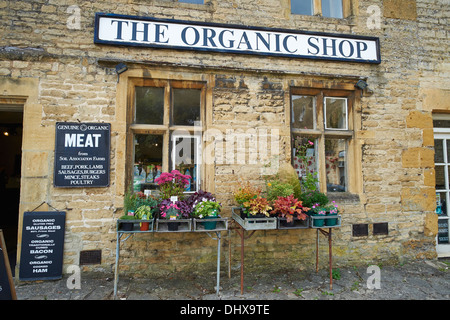 The Organic Shop Market Square Stow-on-the-Wold Cotswolds UK - Stock Photo