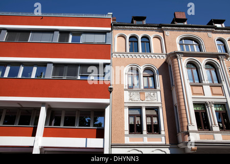 Historical architecture, Linden, Hanover, Lower Saxony, Germany, Europe, - Stock Photo