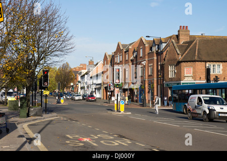 Evesham, a market town in Worcestershire England UK - Stock Photo