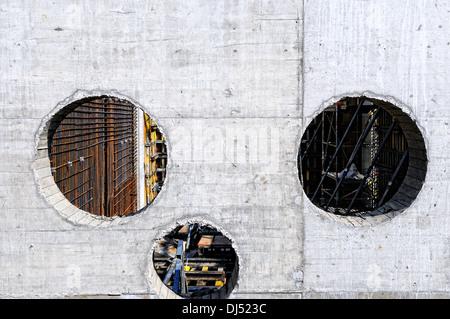 Construction - reinforced concrete - Stock Photo