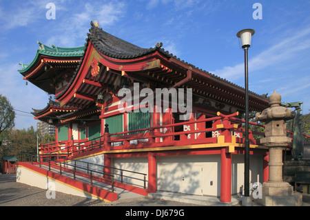 Japan, Tokyo, Ueno Park, Bentendo Temple, - Stock Photo