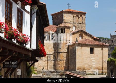 Collegiate Church, Santillana del Mar, Cantabria, Spain - Stock Photo