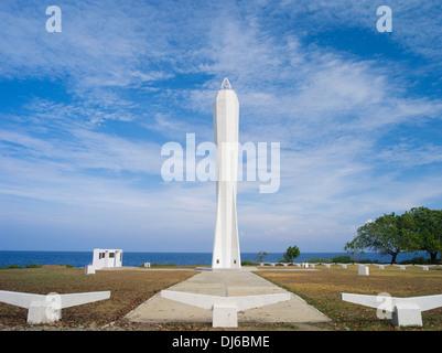 Coastwatchers Memorial Beacon, Madang, Papua New Guinea - Stock Photo