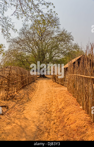 Panorama of small typical village in Bagan area, Myanmar. - Stock Photo